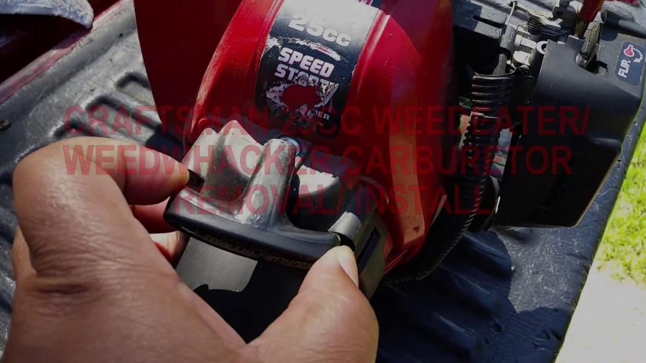 25cc Craftsman Weedeater Carburetor Removal Install