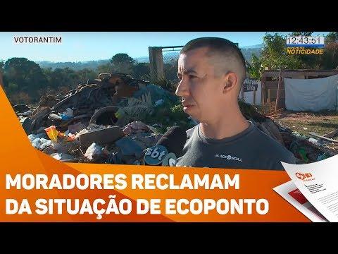 Moradores reclamam da situação de ecoponto em Votorantim - TV SOROCABA/SBT