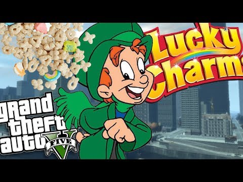 "GTA 5 Mods - LUCKY CHARMS ""LUCKY THE LEPRECHAUN"" MOD (GTA 5 Mods Gameplay)"