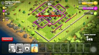 Clash of Clans- Road to max th6? First video! Kinda funny? 2am recording!