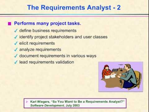 Video 6 - The Requirements Analyst Role