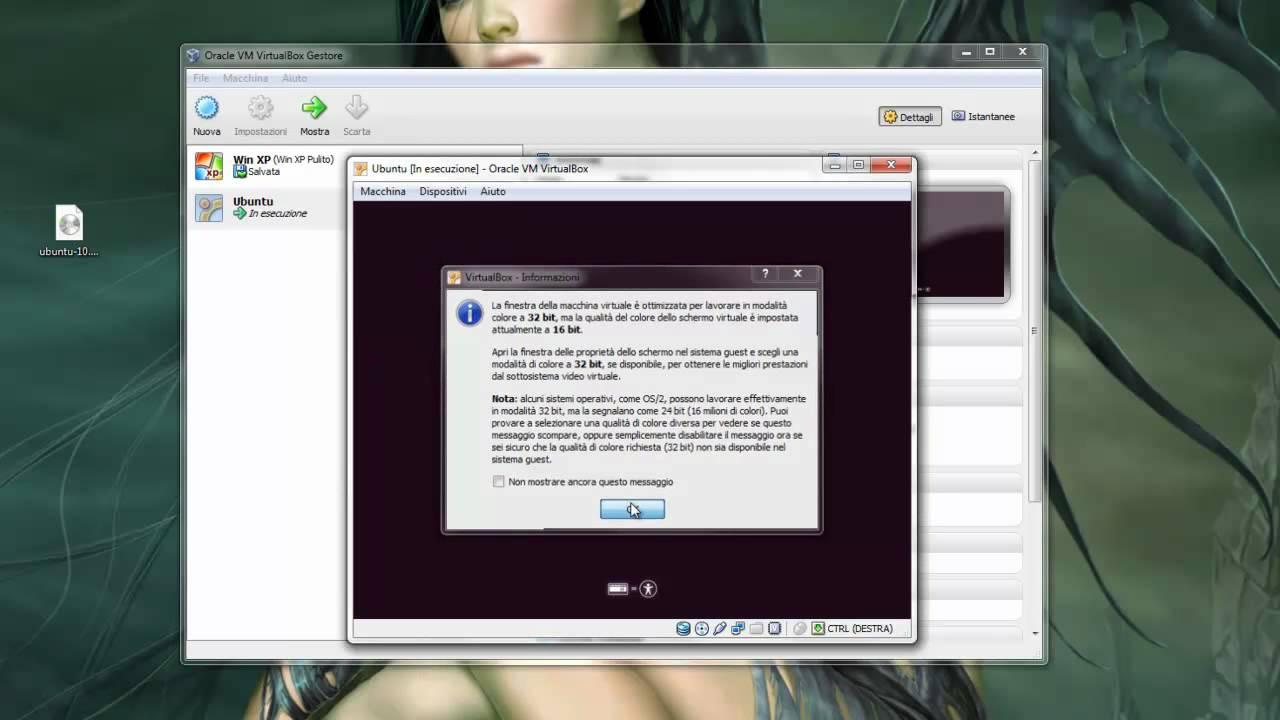ubuntu per virtualbox