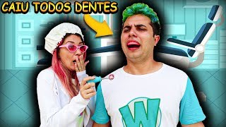 FRANZINHA FINGE SER DENTISTA E WIIZINHO PERDE TODOS DENTES  Kids Pretend Play Dentist With Toys