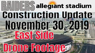 Las Vegas Raiders Allegiant Stadium Construction Update 11 30 2019
