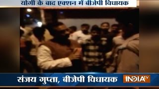 Allahabad MLA caught traffic cop taking bribe from truck driver