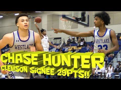 CHASE HUNTER DROP 29 PTS🔥 High School Basketball Highlights || Westlake vs. Wheeler