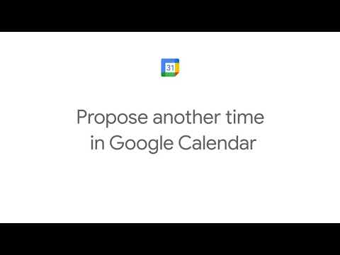 How to Propose another time in Google Calendar