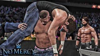 WWE 2K16 No Mercy 2016 - AJ Styles vs John Cena vs Dean Ambrose Triple Threat Match!
