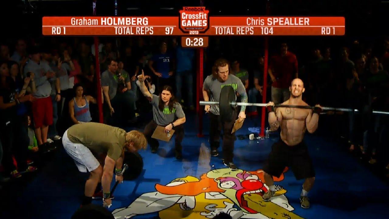 CrossFit Open 13.4 GRAHAM HOLMBERG vs CHRIS SPEALLER - YouTube