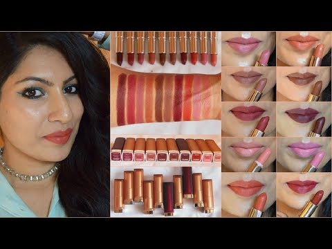 MAYBELLINE INTI MATTE Nudes Lipsticks Review & Swatches India 2018| All Shades| Warm Indian Skintone thumbnail