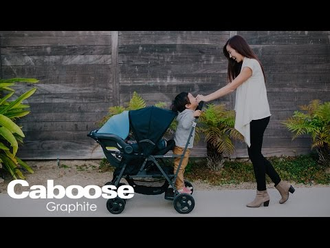 Caboose Graphite Stand-on Tandem Stroller