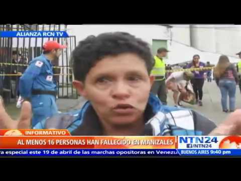 Al menos 16 muertos deja temporal invernal en Manizales, Colombia