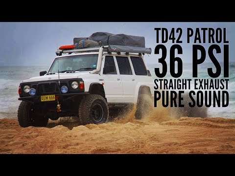 Nissan Patrol TD42 Beach Drive Pure Sound 36PSI straight