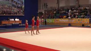 Спортивная акробатика. Всероссийские соревнования в г. Октябрьский 2015г. Женская группа AGE