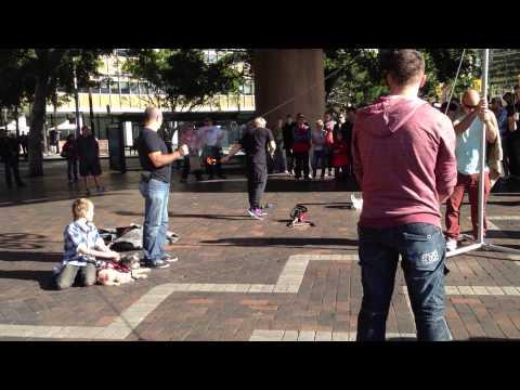 Street Entertainer At Circular Quay