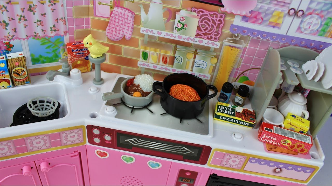 Toy Kitchen Pretend Play Food Cooking Spaghetti Curry Coffee Japan