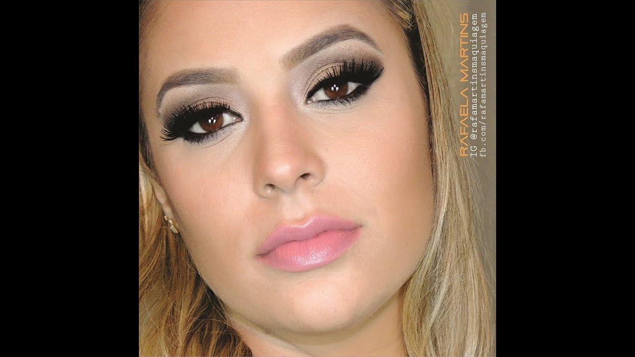 Famosos Maquiagem Básica e Chique para a noite! - YouTube KR32