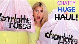 HUGE HAUL +Mini Chats | Charlotte Russe Pt.1 (Jeans &Tops/CropTops) +BLOOPERS ♡