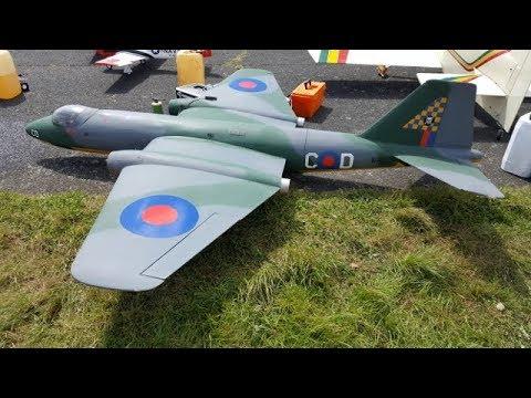 CLASSIC POST WAR RC JETS - HUNTER - VENOM - CANBERRA - DISPLAY AT LMA RAF TIBENHAM - 2017