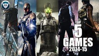 TOP 5 PS4,PS3,XBOX ONE,XBOX 360,WiiU,PC GAMES 2014 15 HD