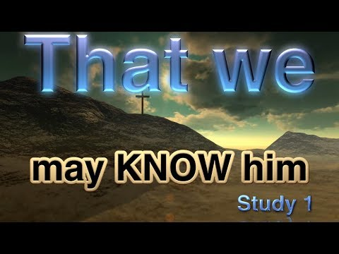 """That we may know Him that is true"" Study 1:That which was from the beginning"