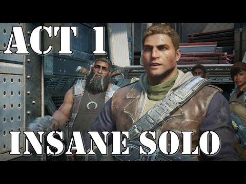 Gears of War 4 – Act 1 – INSANE SOLO Walkthrough Playthrough [Village Defense]