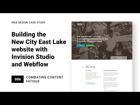Combating content fatigue with white space and layout: NCEL 006 (with InVision Studio and Webflow)