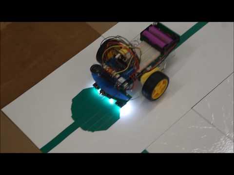Light sensor and line following using machine learning program