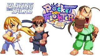 Pocket Fighter - Sega Saturn - Playing with Sacks