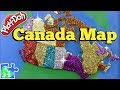 Map of CANADA for Kids: Part 1 -- Learn the Canadian Provinces with a Play-Doh Puzzle!