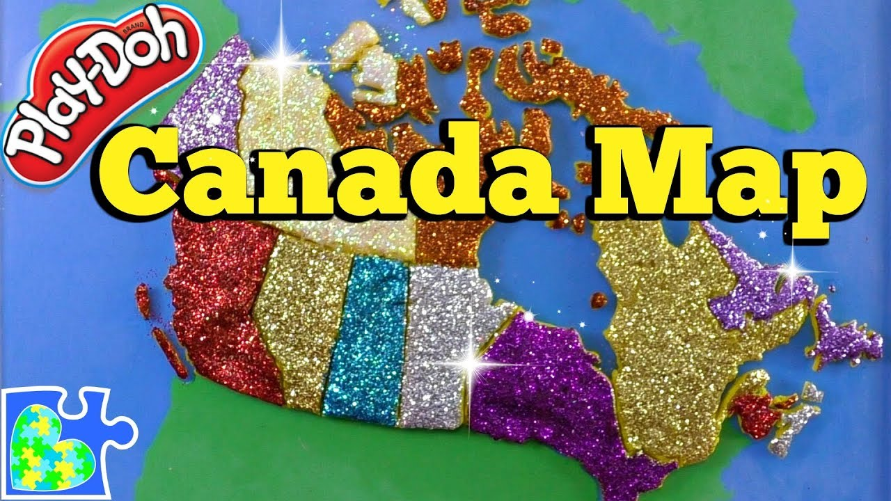 Map Of Canada Puzzle.Map Of Canada For Kids Part 1 Learn The Canadian Provinces With A Play Doh Puzzle