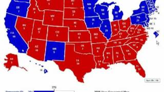 Election 2008 in 30 Seconds! (Old Prediction)