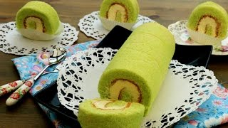 How To Make Pandan Swiss Roll Cake 班兰瑞士蛋糕卷