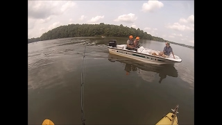 july 2015 fishing for bass from a kayak at marsh creek lake