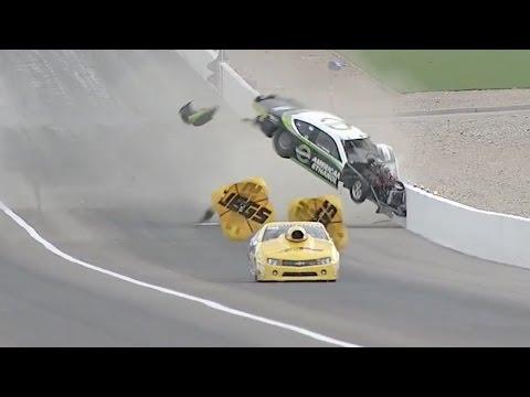 Deric Kramer spectacular Pro Stock crash | NHRA Vegas