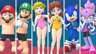 Mario & Sonic aт the Olympic Games Tokyo 2020 - Swimming (All Characters)