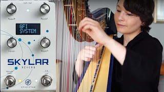 GFI System Skylar Reverb Pedal on Harp