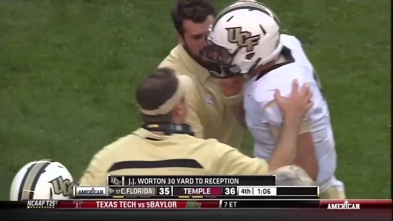 Ucf Wr Jj Worton Incredible One Handed Diving Touchdown Catch Youtube
