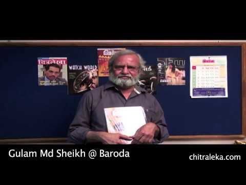 Gulam Md Sheikh greeting on Chitralekha 62nd anniversary iss