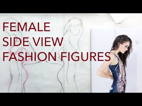 Fashion Figures Tutorial: Side View Poses: Female