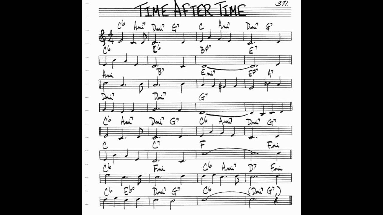 Time After Time Play Along Backing Track C Key Score Violin