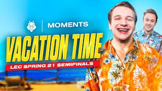 Vacation Time | LEC Spring 2021 Playoffs Semi-Final vs Rogue Moments