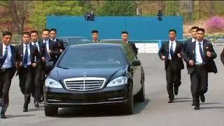 Бегущие охранники сопровождали лимузин Ким Чен Ына