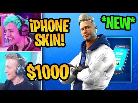 streamers-react-to-*new*-iphone-apple-skin-in-fortnite-|-wiredplayz