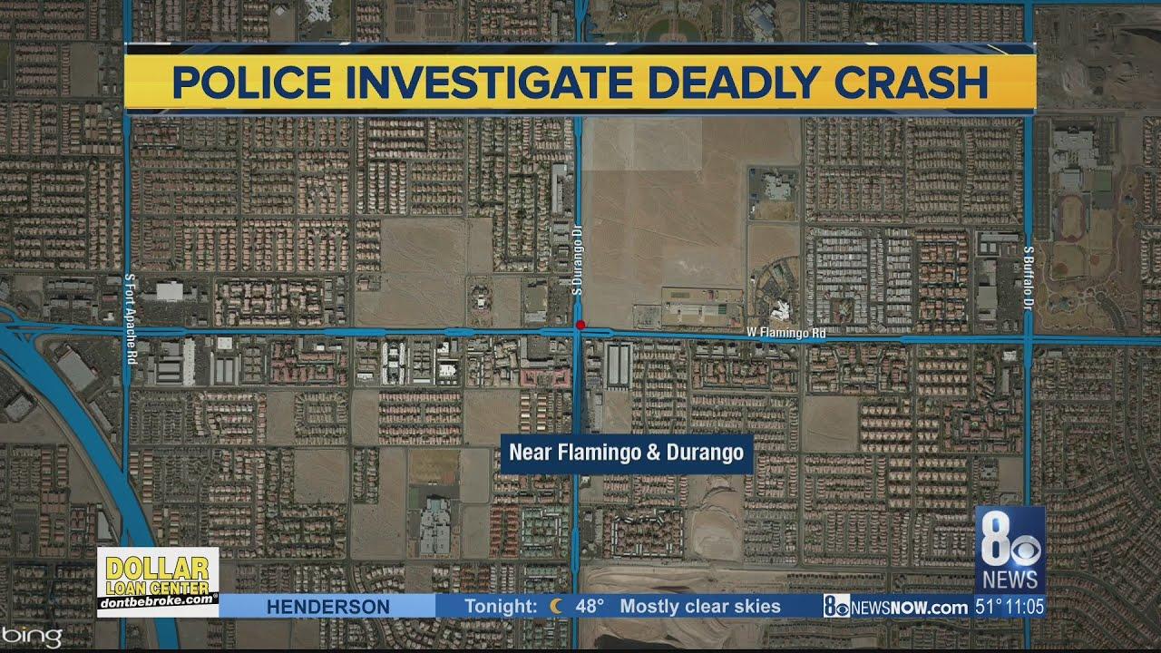 Pedestrian killed in crash near Durango, Flamingo; avoid the area