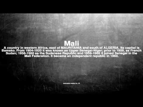 Medical vocabulary: What does Mali mean