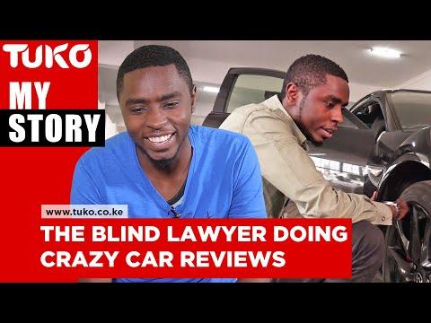 The life of Chadwick Boseman's look alike blind lawyer doing crazy car reviews  in Kenya   Tuko TV