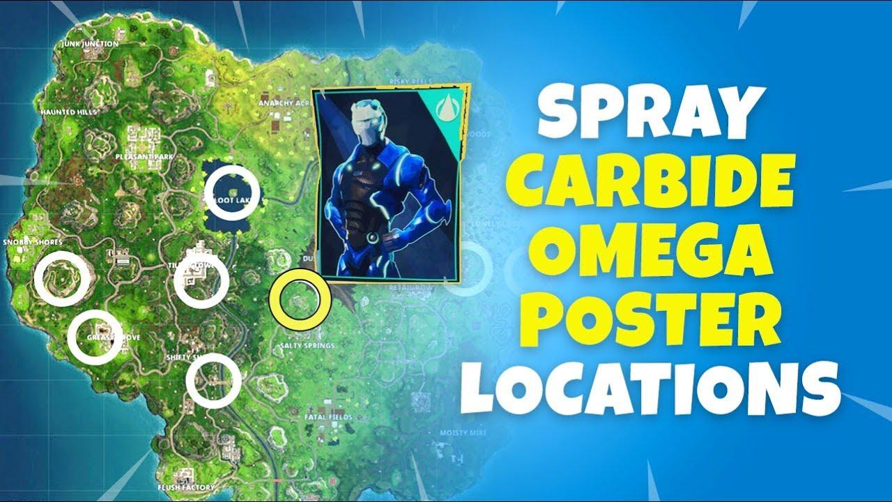 Fortnite omega carbide posters