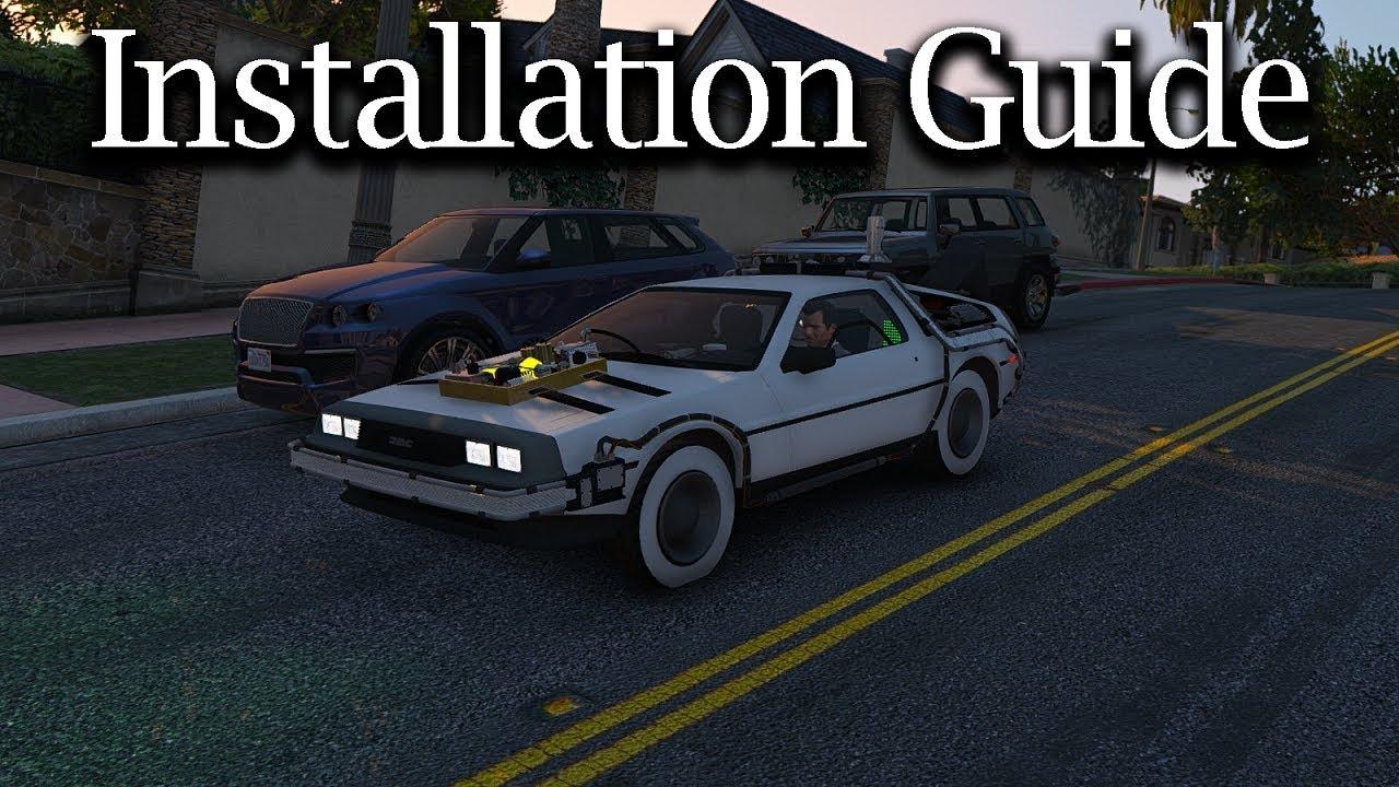 GTA V Mods | Installation Guide | Back To The Future - Delorean Time Machine