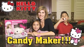 HELLO KITTY Chocolate Boutique - Candy Making & Chocolate Stealing!